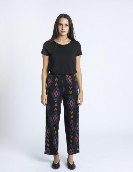 Pantalon algodon negro etnico compañia fantastica zaragoza sommes demode