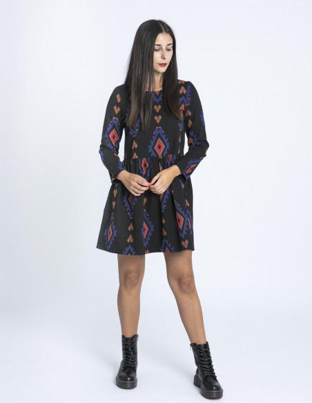 Vestido negro etnico algodon compañia fantastica zaragoza sommes demode