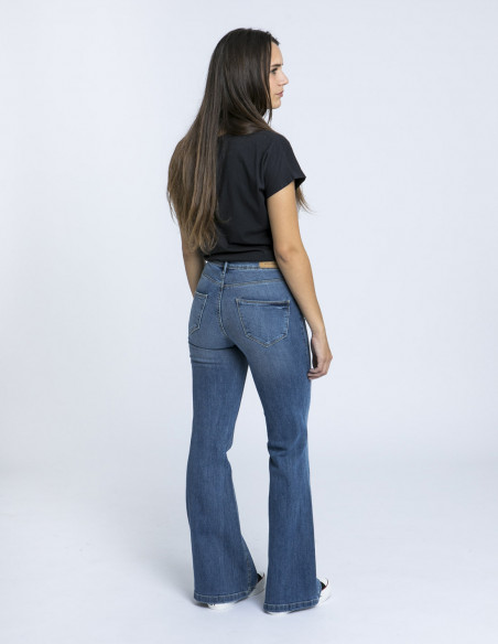 Jeans flared elva blend she zaragoza sommes demode