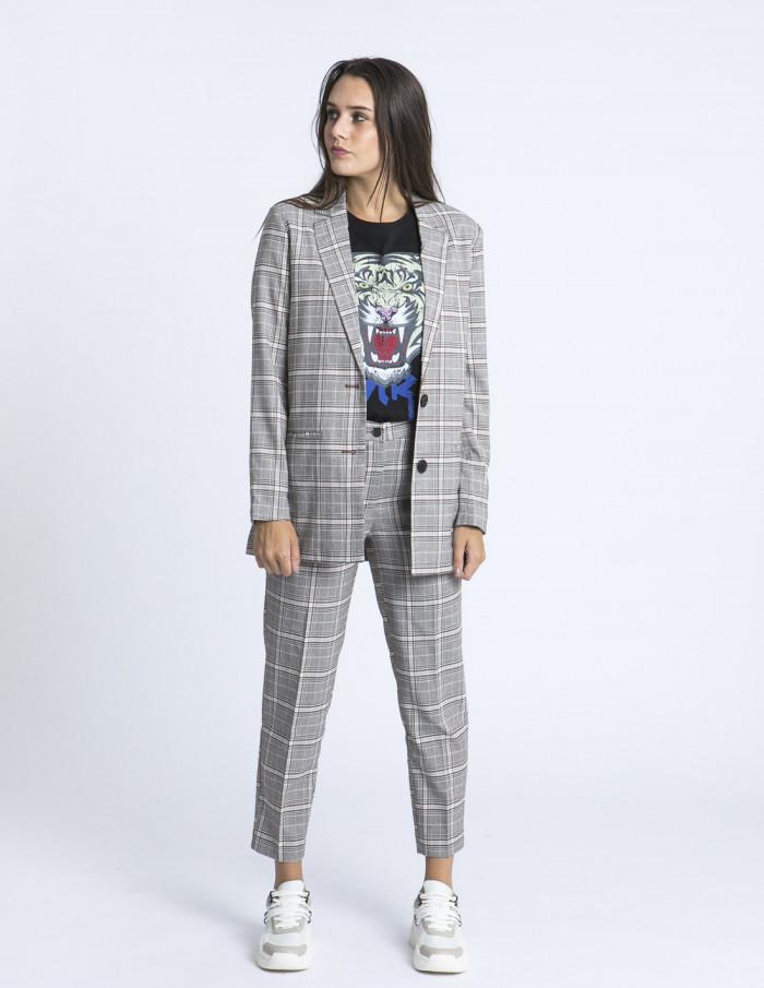 Pantalones cuadros Tinny ICHI zaragoza sommes demode