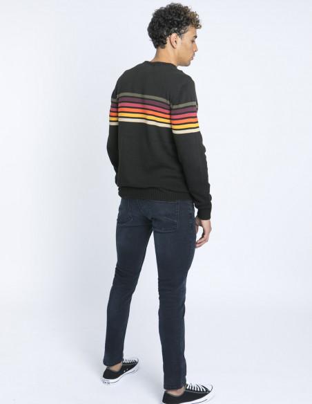 Jersey negro rayas multicolor blend zaragoza sommes demode