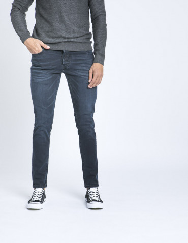 Jeans slim joy blue solid zaragoza sommes demode