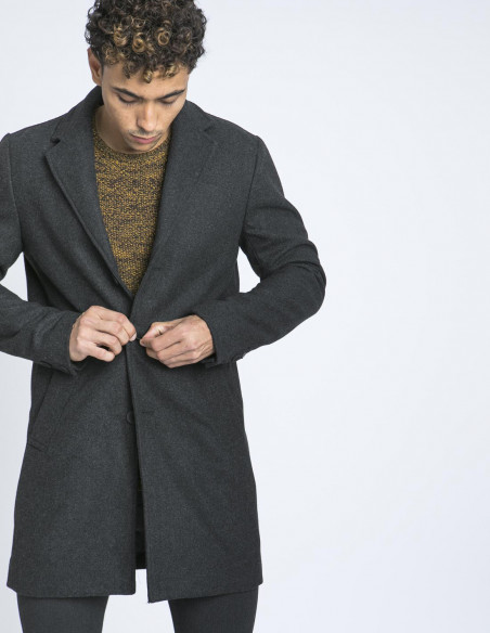 abrigo gris fayette solid zaragoza sommes demode