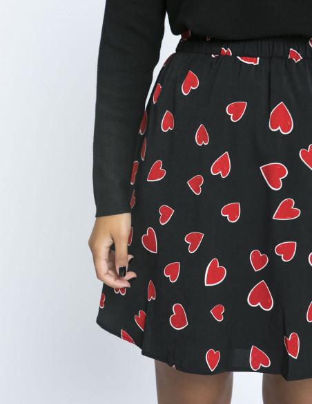 Falda corazones rojos compañia fantastica zaragoza sommes demode