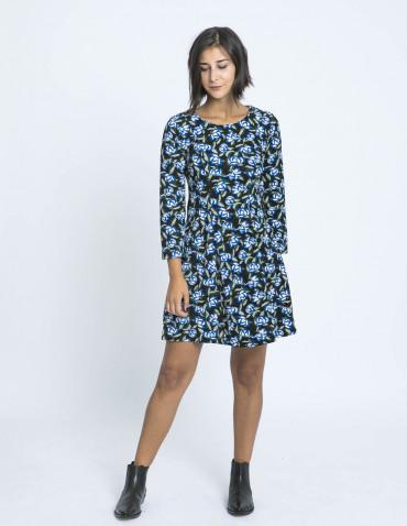 vestido flores azules compañia fantastica zaragoza sommes demode