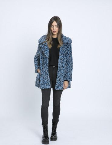 abrigo leopardo azul compañia fantastica zaragoza sommes demode