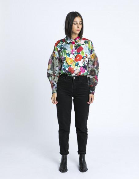 camisa flores watercolour glamorous zaragoza sommes demode