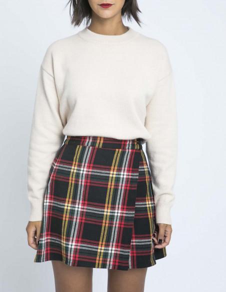 falda cruzada cuadros algodon compañia fantastica zaragoza sommes demode