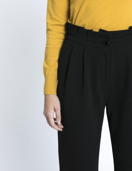 pantalon negro tiro alto compañia fantastica zaragoza sommes demode