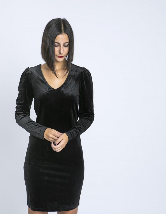 Vestido Negro Velvet Ichi Sommes Demode Zaragoza