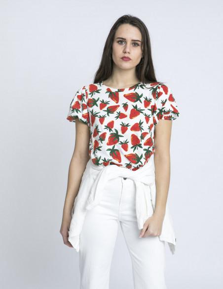 camiseta fresas algodon compañia fantastica sommes demode zaragoza