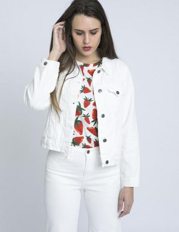 chaqueta vaquera blanca compañia fantastica zaragoza sommes demode
