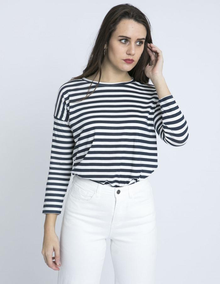 camiseta rayas azules algodon compañia fantastica zaragoza sommes demode