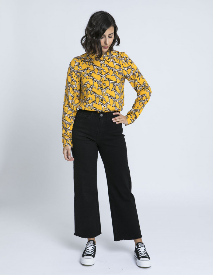 camisa cebras amarilla compañia fantastica zaragoza sommes demode