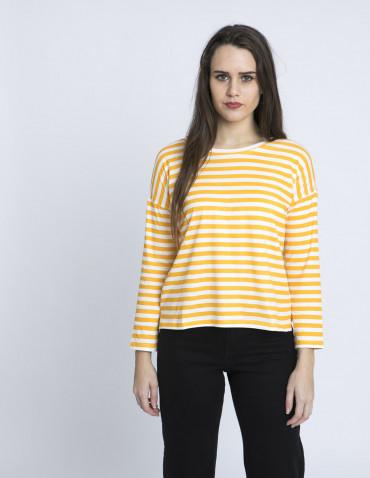 camiseta rayas amarillas algodon compañia fantastica zaragoza sommes demode