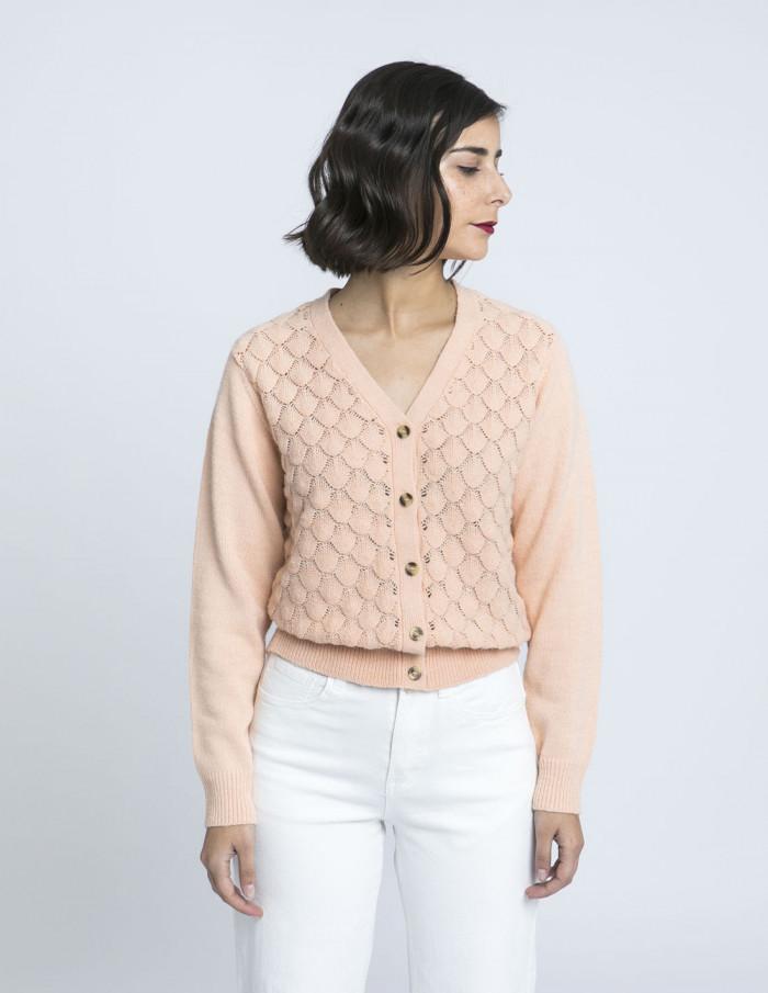 chaqueta rosa linamon blend she zaragoza sommes demode