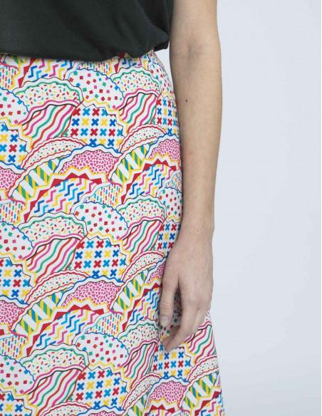 falda estampado asbstracto compañia fantastica online sommes demode zaragoza