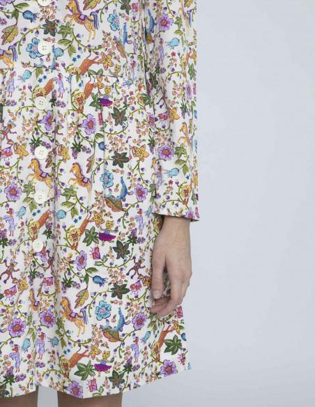 vestido corto estampado fantasia de compañia fantastica online sommes demode zaragoza