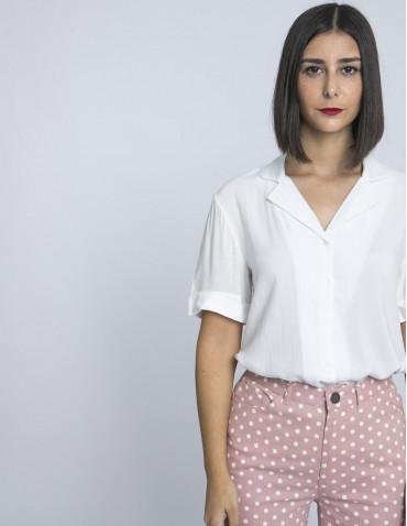 camisa blanca cuello solapas compañia fantastica online sommes demode zaragoza