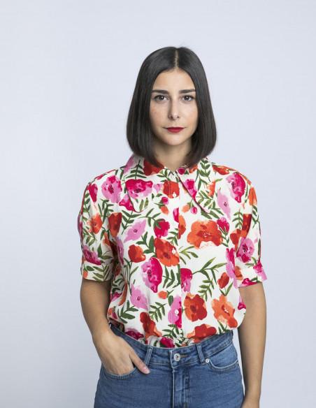 camisa flores coral wild pony online sommes demode zaragoza
