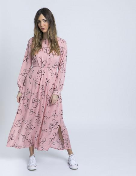 vestido largo rosia ichi online sommes demode zaragoza