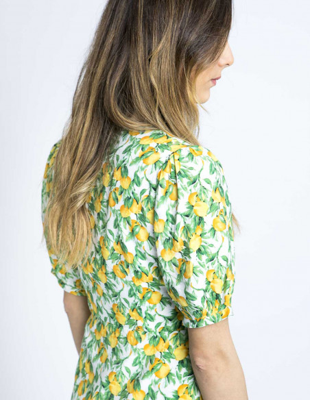 vestido camisero estampado limones wild pony online sommes demode zaragoza