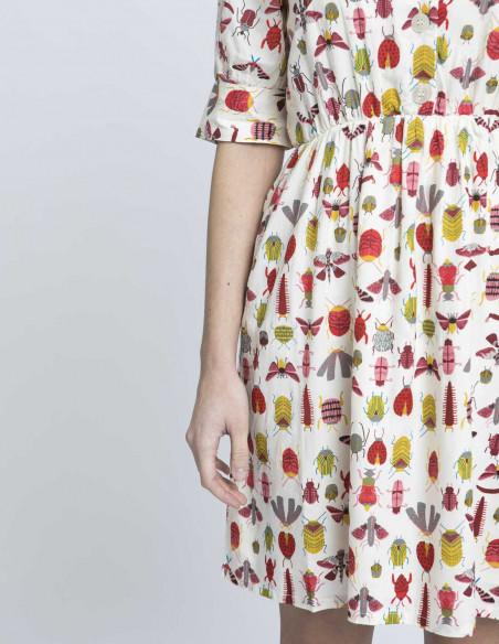 vestido estampado insectos compañia fantastica online sommes demode zaragoza