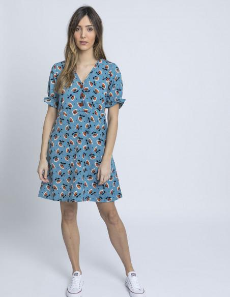 vestido amapolas azul wild pony online sommes demode zaragoza