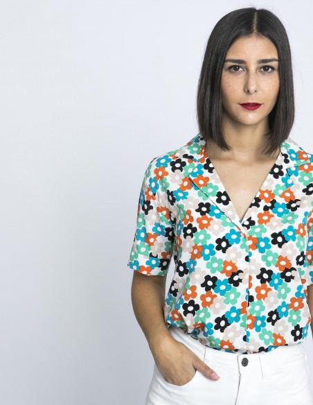 Camisa Margaritas Multicolor Compañia Fantastica Sommes Demode Zaragoza