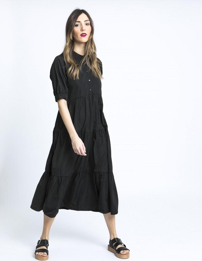vestido negro Julia ICHI online sommes demode zaragoza