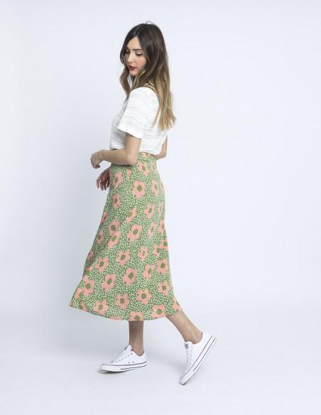 falda midi margaritas rosas wild pony online sommes demode zaragoza
