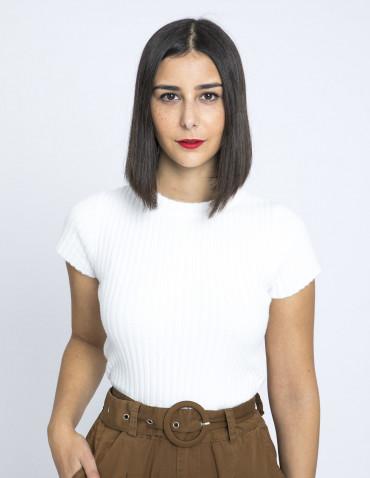 camiseta soft blanco glamorous online sommes demode zaragoza