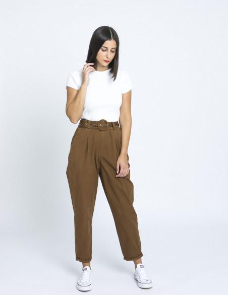 pantalon ega marron desires online sommes demode