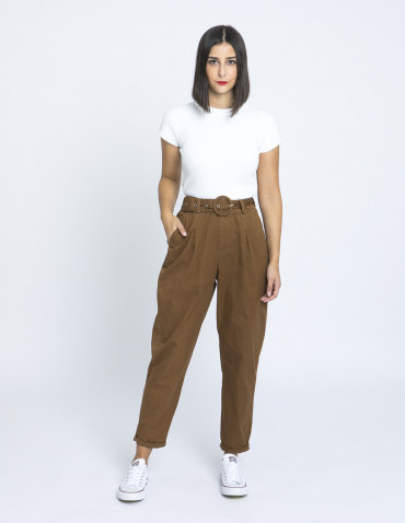 pantalon ega marron desires online sommes demode