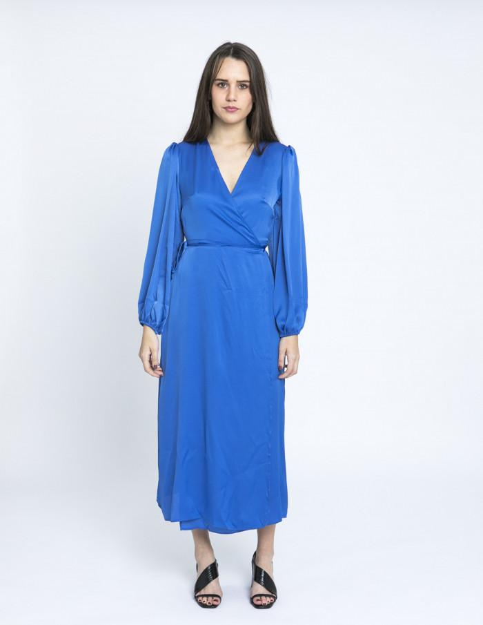 vestido cruzado azul glamorous online sommes demode zaragoza