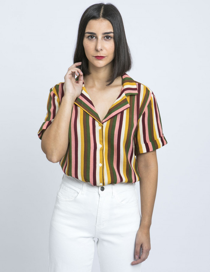 camisa rayas verticales compañia fantastica zaragoza sommes demode