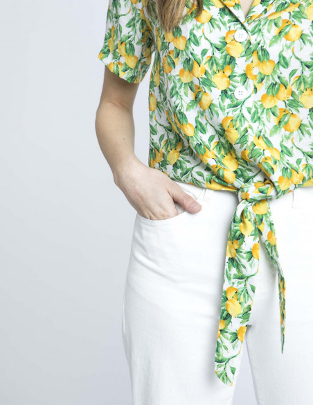 camisa estampado limones wild pony zaragoza sommes demode