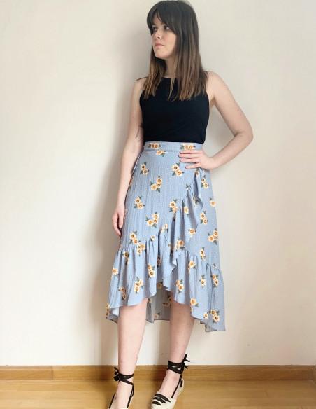falda pareo flores frnch online sommes demode