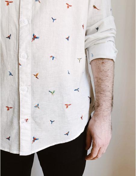 camisa hombre pajaros blend zaragoza sommes demode