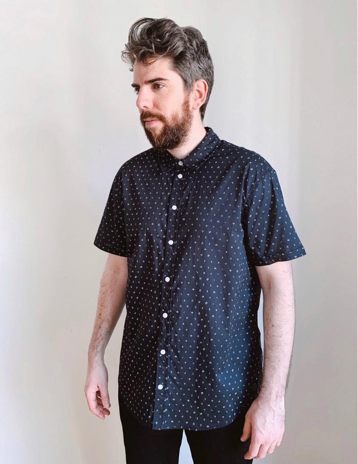 camisa hombre letras blend online sommes demode