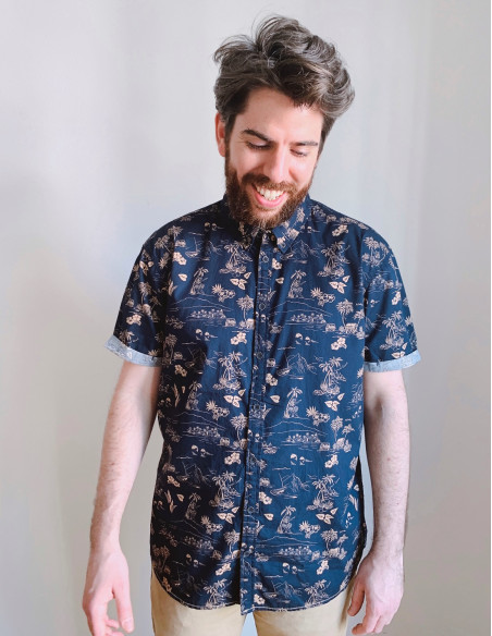 camisa hombre hawaiana blend online sommes demode