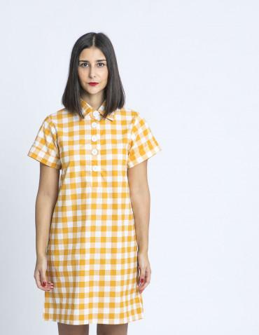 vestido polo cuadros amarillos compañia fantastica zaragoza sommes demode