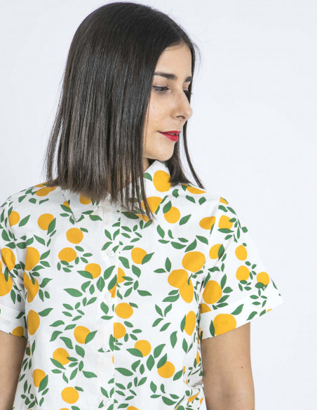 camisa estampado naranjas compañia fantastica zaragoza sommes demode