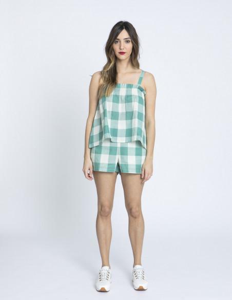 shorts cuadros verdes compañia fantastica sommes demode