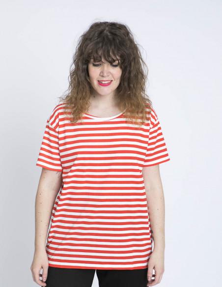 camiseta rayas rojas y blancas compañia fantastica zaragoza sommes demode
