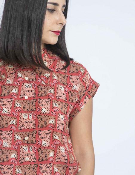 camisa estampado leopardos compañia fantastica sommes demode