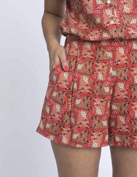 shorts estampado leopardos compañia fantastica sommes demode