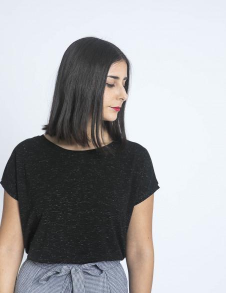 camiseta rebel negro ichi sommes demode