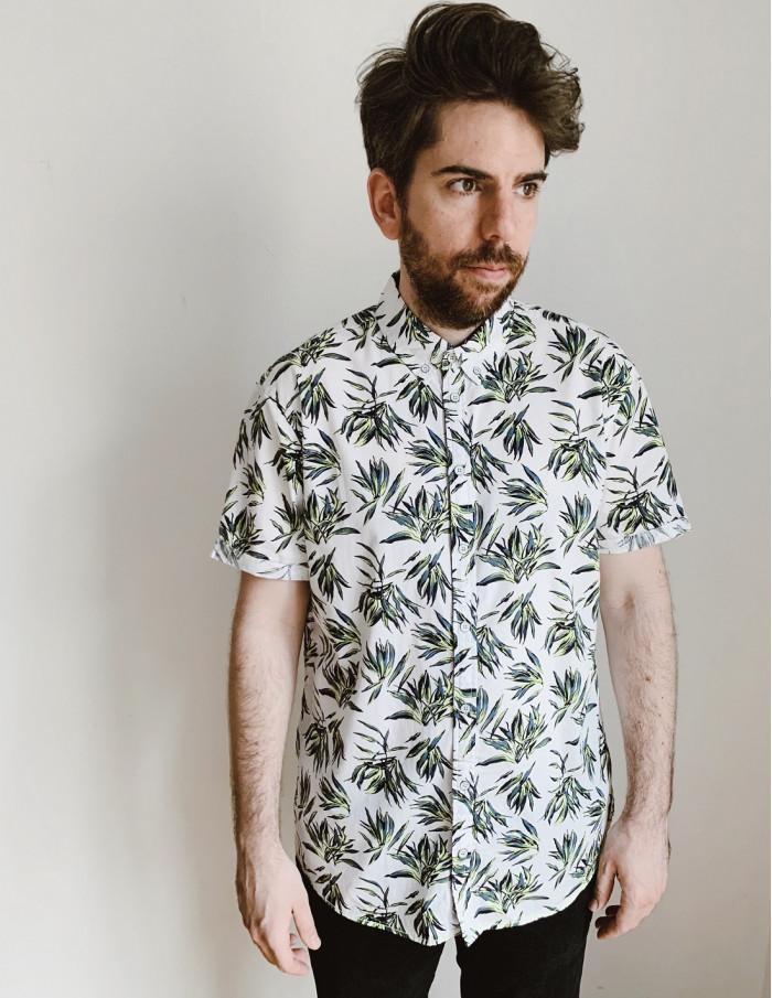 camisa chico hojas blend sommes demode