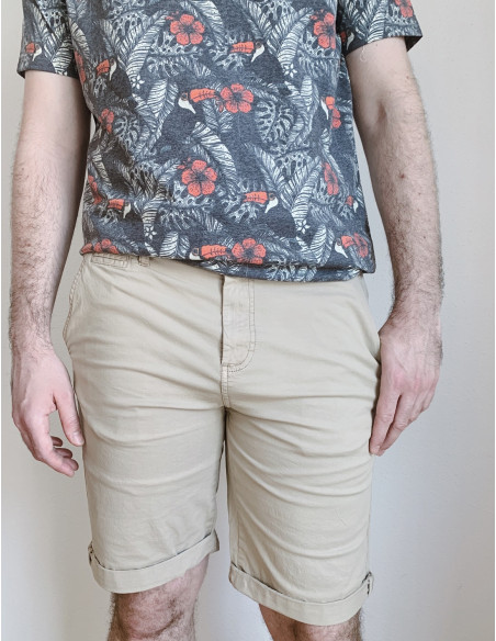 pantalon corto chino solid sommes demode